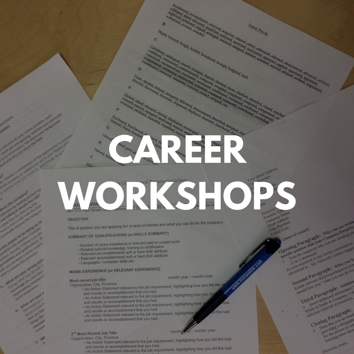 Career Workshops