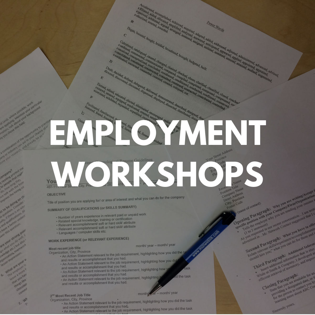 Employment Workshops