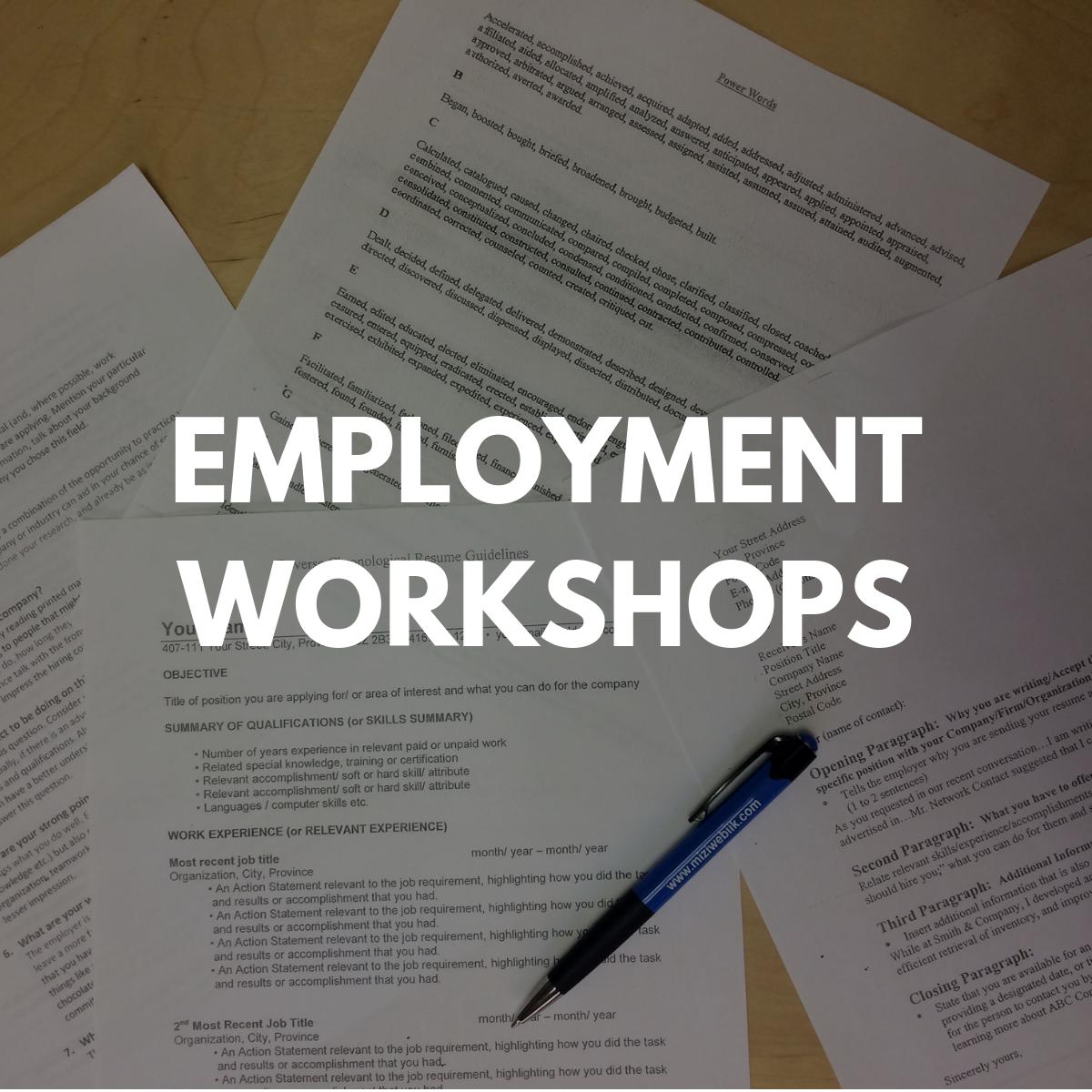 Employment Workshops