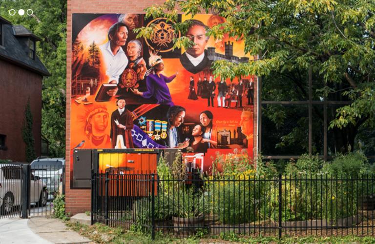 Miziwe Biik building and mural